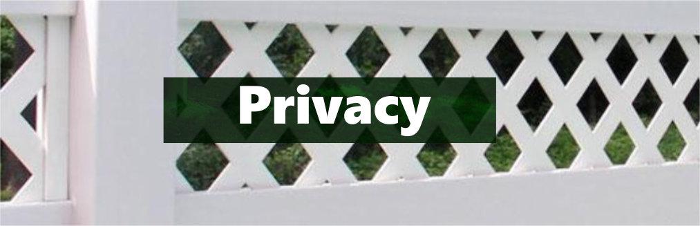 Vinyl fencing privacy