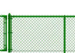 4' Green Chain Link Fence