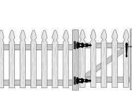 French Gothic Picket Fence