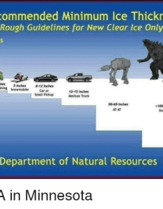 Recommended minimum ice thickness rough guidelines for new also visual reminder ohio game fishing your rh ohiogamefishing