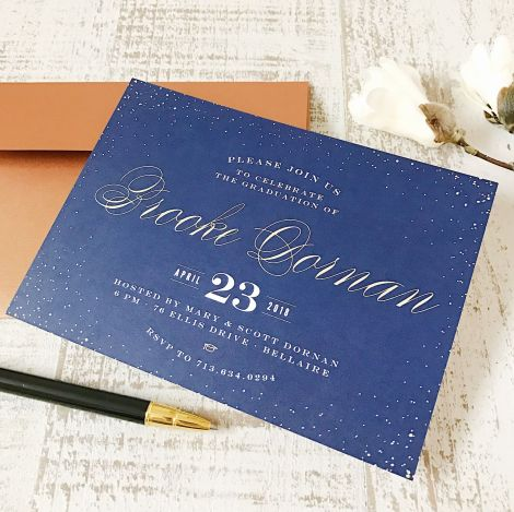 Basic Invite Graduation announcements and invitations