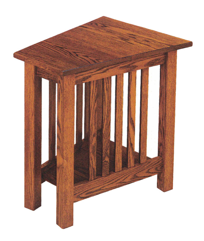 Mission Style Wedge End Table  Ohio Hardwood Furniture