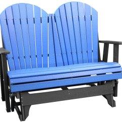 Adirondack Chair Design History Red Plastic Chairs 4' Glider - Ohio Hardwood Furniture
