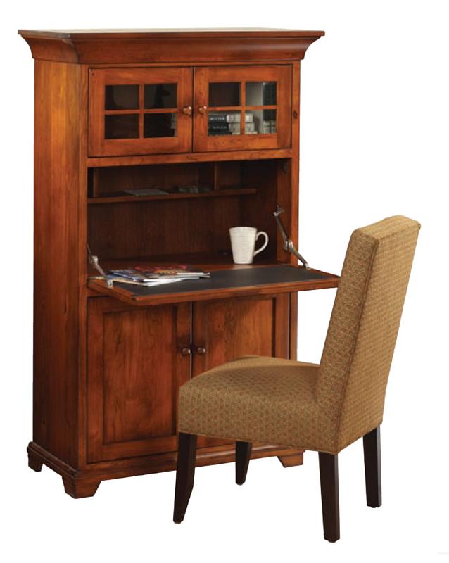 Findlay Drop Front Desk  Ohio Hardwood  Upholstered