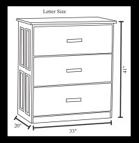 3 Drawer Lateral File Cabinet - Ohio Hardwood Furniture
