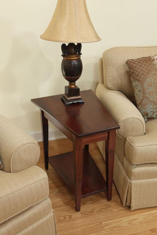 Shaker Wedge End Table  Ohio Hardword  Upholstered Furniture