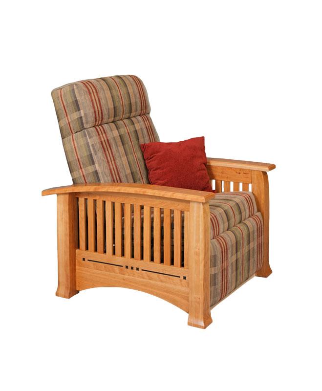 wall hugger recliner chair metal vanity modern mission - ohio hardword & upholstered furniture