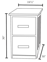 Valley Vertical File Cabinets - Ohio Hardwood Furniture