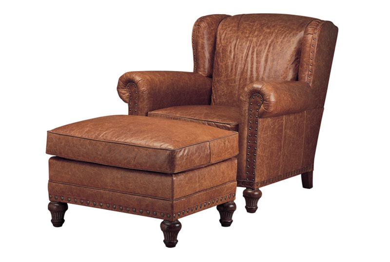 Wesley Hall L7006 Leopold Chair and L700629 Ottoman