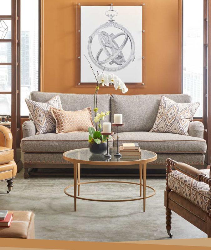 wesley hall sofas backless sofa crossword puzzle leather signature elements collection ohio hardwood