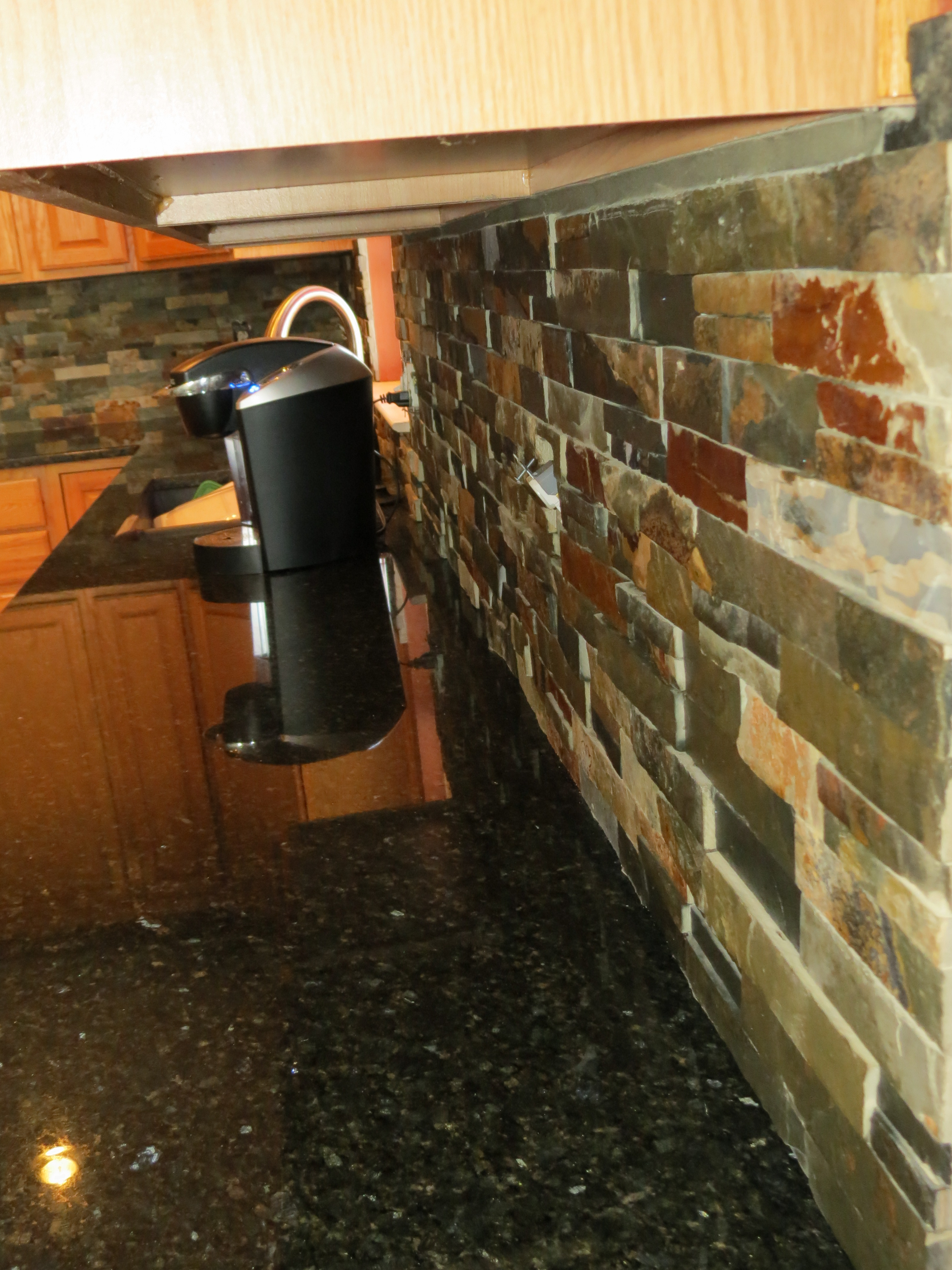 kitchen design dayton ohio aid refrigerator parts finished slate tile backsplash installation