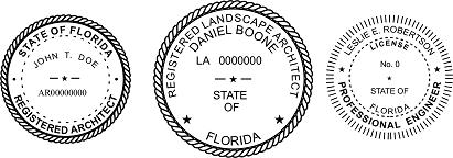 Florida Engineer, Architect, Surveyor Embossing Seals and