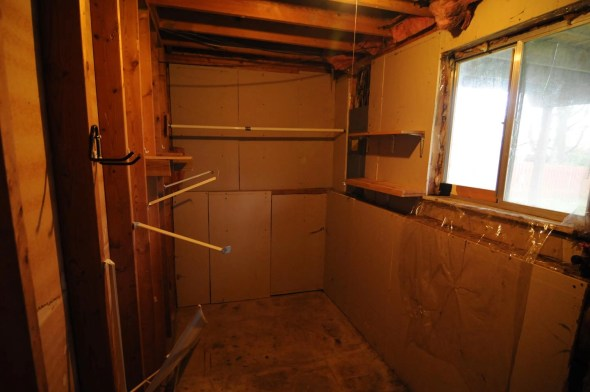 Laundry room will get new drywall and cleaned up