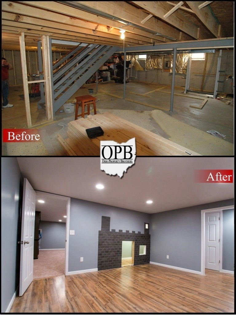 trends in kitchen flooring popular before/after – basement remodel | ohio property brothers