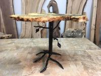 Hand Forged Steel Accent Table Legs. End Table Base
