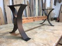 Steel Bench Base. Ohiowoodlands Metal Table Legs. Bench ...