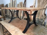 OhioWoodlands Dining Table Base. Steel dining table legs ...