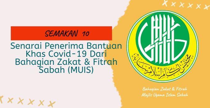 Bantuan Covid 19 Sabah Bahagian Zakat Fitrah Majlis Ugama Islam Negeri Sabah Muis Ohkunak