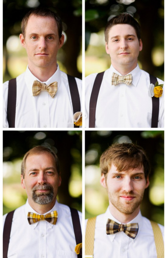 groom & groomsmen in bow ties | handmade North Carolina wedding | Nathan Abplanalp Photography