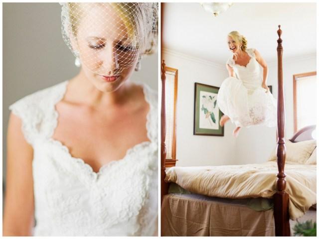 a happy bride | handmade North Carolina wedding | Nathan Abplanalp Photography