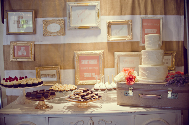 peach & pink malibu wedding | dessert display by my sweet and saucy shop