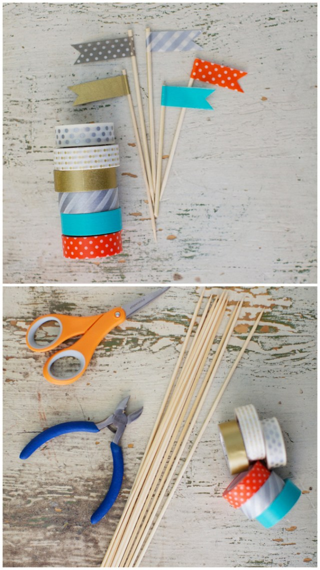 DIY Washi Tape Flags | Oh Lovely Day