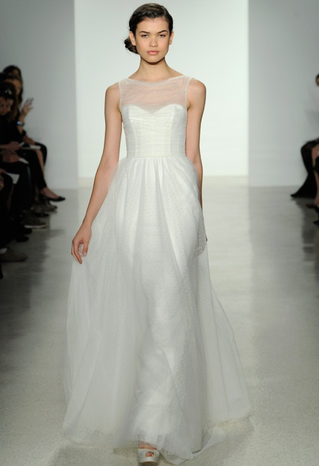 Wedding dresses galore from bridal market fall collections for Postpartum dresses for wedding
