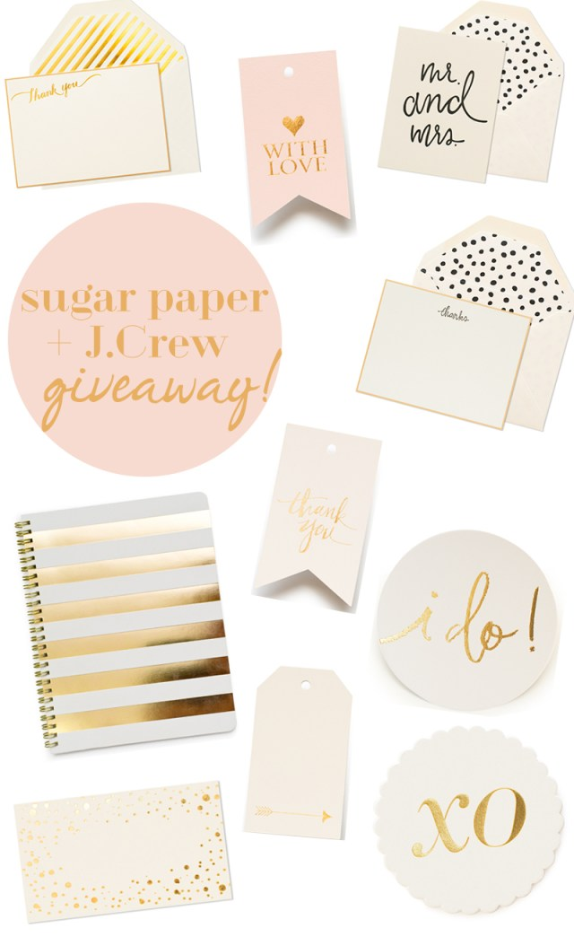 Sugar Paper for J.Crew Giveaway