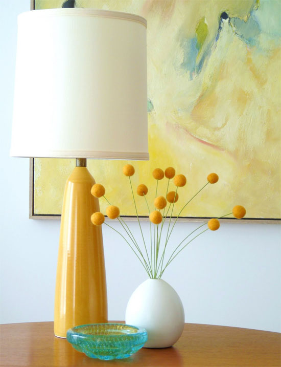 felt balls in interior decor | Oh Lovely Day