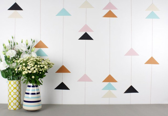 DIY Modern Geometric Party Decor + Printables | Lupa & Pepi on Oh Lovely Day