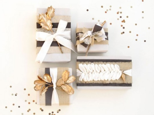 Holiday Gift Wrap DIY | blue magpie for Oh Lovely Day