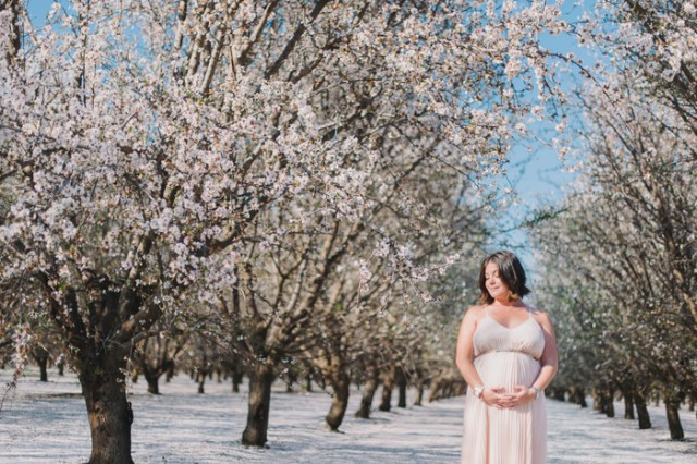 Almond Blossom Maternity Session | Hazelnut Photo by Heidi Ryder on Oh Lovely Day