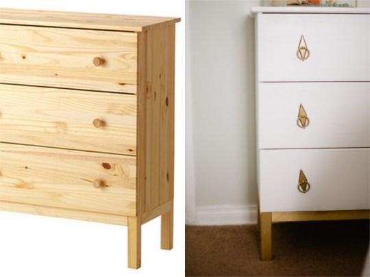 diy ikea tarva hack dresser makeover oh lovely day. Black Bedroom Furniture Sets. Home Design Ideas