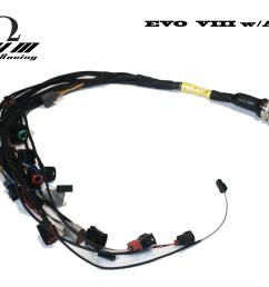 stage 1 u201ctucked u201d mil spec engine harness evo 8 9 www ohm racing com wiring harness evo 9 [ 4900 x 3900 Pixel ]