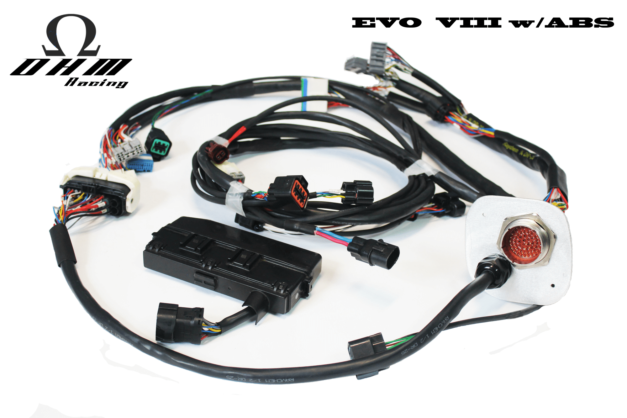 hight resolution of stage 3 mil spec engine harness evo 8 www ohm racing com gm wiring harness wiring harness evo 9