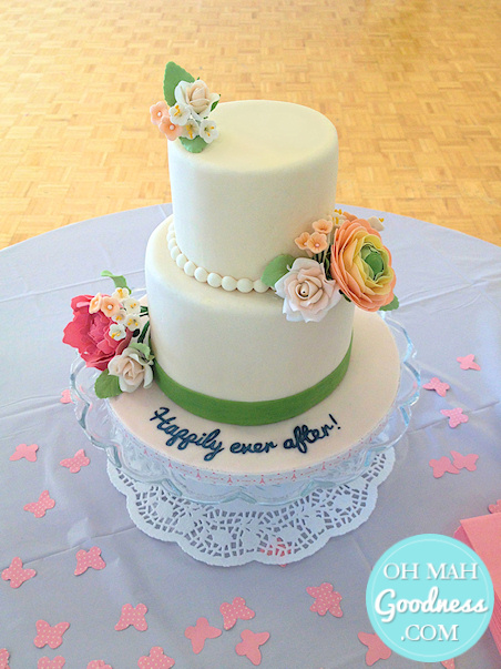 Spring bridal shower cake