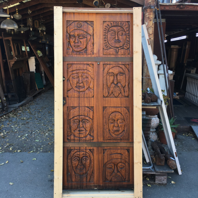 Mahogany Carved Entry Door