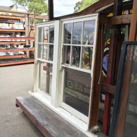 Vintage Double-Hung Window