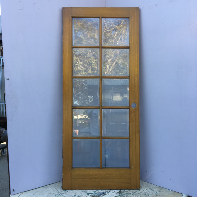 10 lite beveled glass french door
