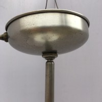 Stainless Steel Industrial Pendant Light w/ 2 Tone Milk ...