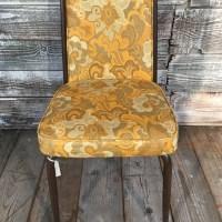 Mid Century Floral Vinyl Kitchen Chair