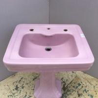 Kohler Lavender Pedestal Sink & Matching Toilet C. 1934