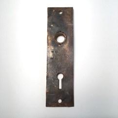 Kitchen Flush Mount Lighting Lowes Hood Branford Lock Works Door Knob Pair W/ Back Plate Sold