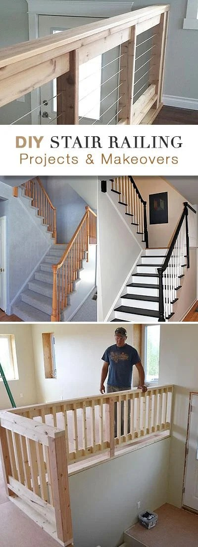Diy Stair Railing Ideas Makeovers Ohmeohmy Blog