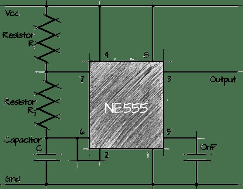 555 (NE555) Astable Circuit Calculator