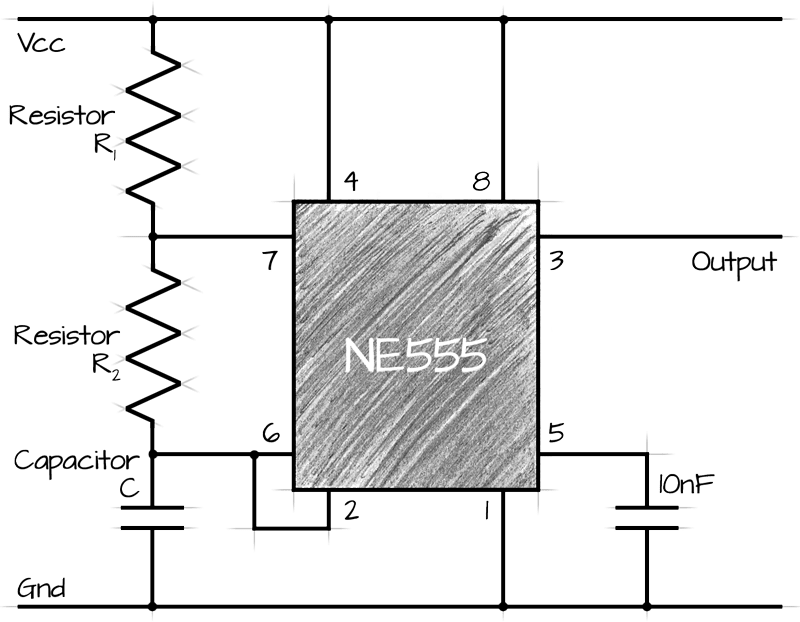 astable 555 circuit