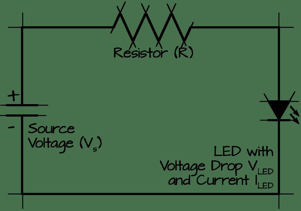 led resistor diagram