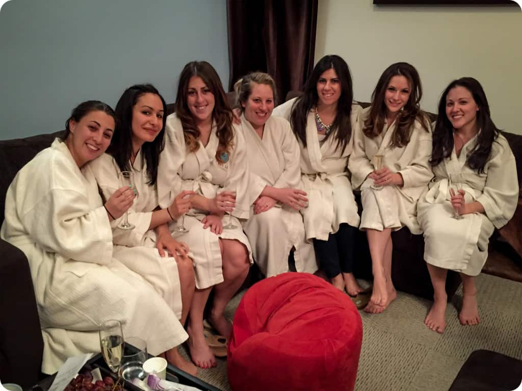 spa bachelorette party for