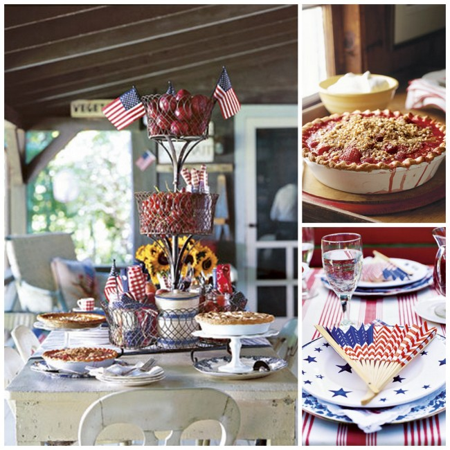 A charming way to celebrate the Fourth of July! Create Vintage Homemade 4th of July celebration decorations and inspiration  |  OHMY-CREATIVE.COM