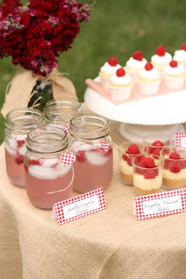 Rustic Raspberry Dessert Table